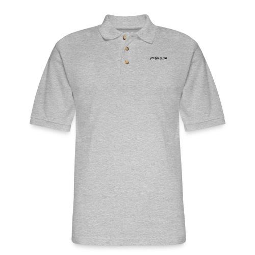life haze black - Men's Pique Polo Shirt