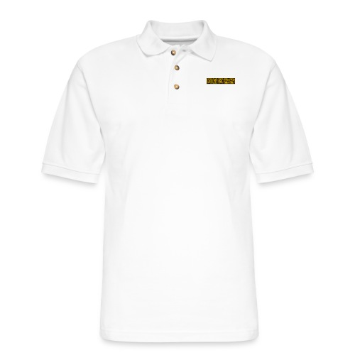 Cr0ss Gold-Out logo - Men's Pique Polo Shirt