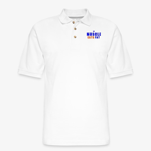Muscle Eats Fat (NYK Edition) - Men's Pique Polo Shirt