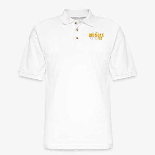 Muscle Eats Fat (Royal Yellow) - Men's Pique Polo Shirt