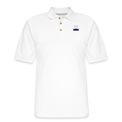 Hammie Logo with Brand Name - Men's Pique Polo Shirt