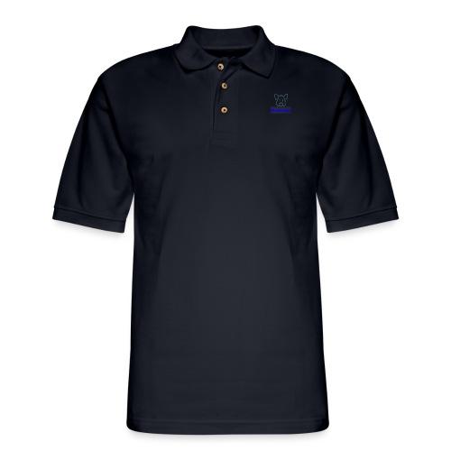 Hammie Logo with Brand Name - Men's Pique Polo Shirt