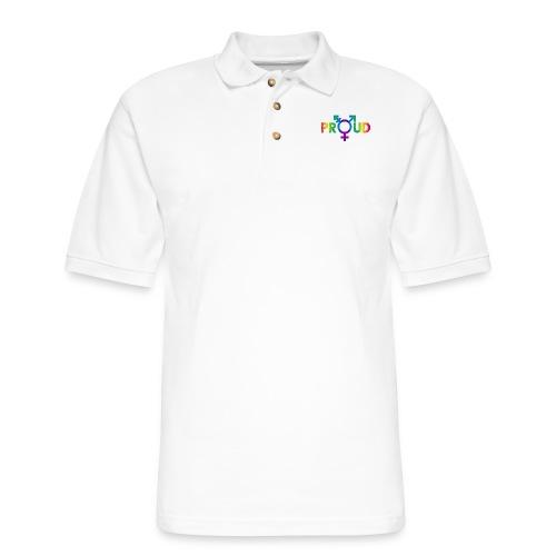 LGBT Proud (Rainbow 2) - Men's Pique Polo Shirt