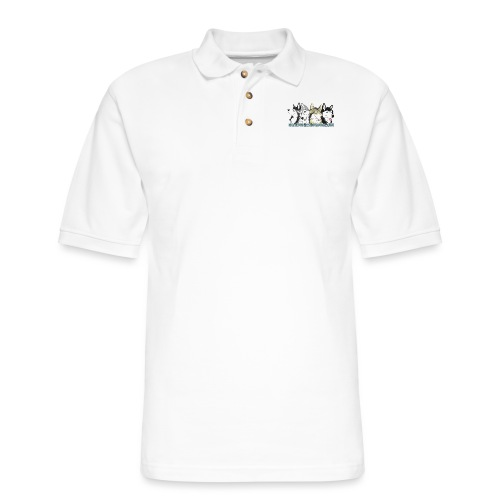 Siberian Husky Snow Dogs - Men's Pique Polo Shirt