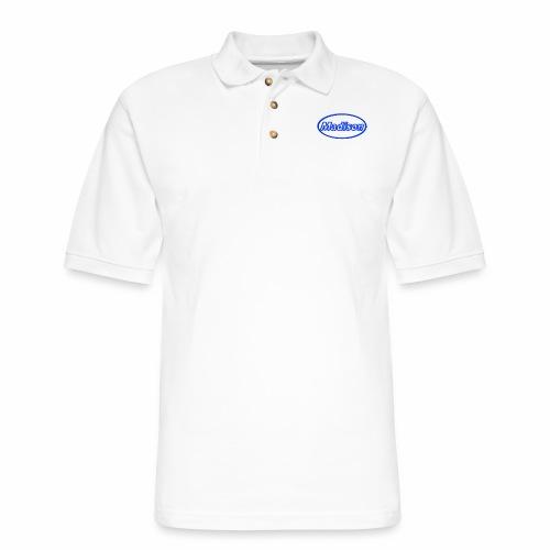 Madison in Neon Blue - Men's Pique Polo Shirt
