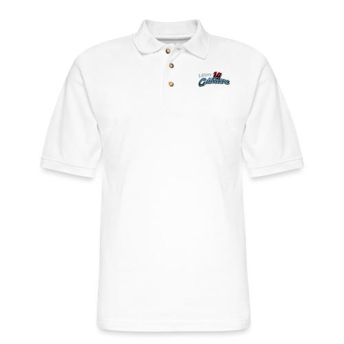 Level10Gamers Logo - Men's Pique Polo Shirt