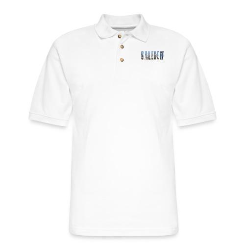 Raleigh Skyline Fall - Men's Pique Polo Shirt