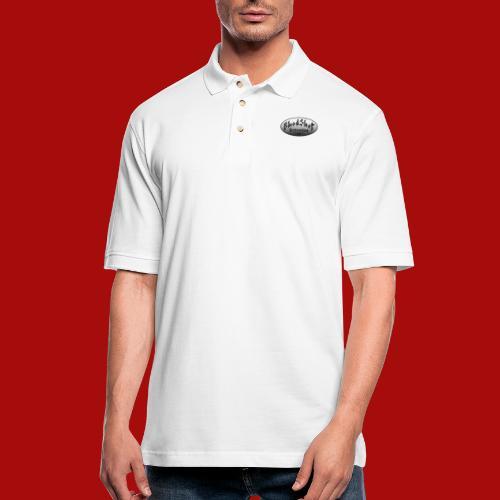 BloodShot Logo Black/White - Men's Pique Polo Shirt