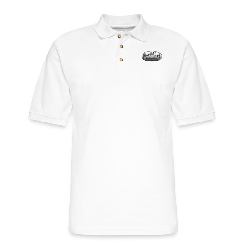 BloodShot Logo Black/White - Men's Pique Polo Shirt