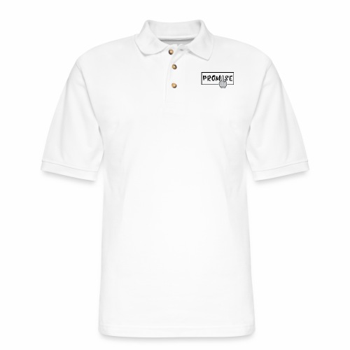 Promise- best design to get on humorous products - Men's Pique Polo Shirt