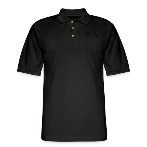 VA Strikethrough - Men's Pique Polo Shirt