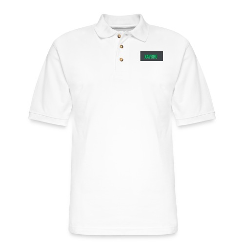 xavbro green logo - Men's Pique Polo Shirt