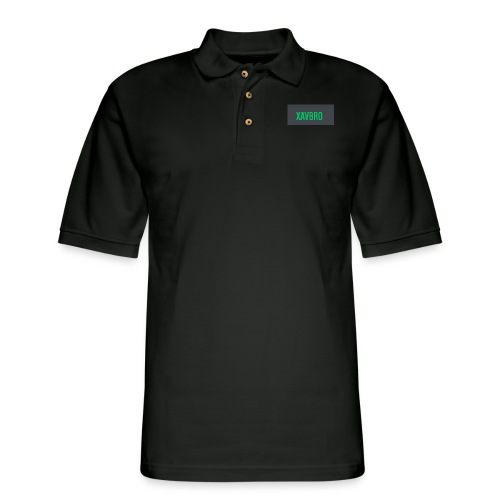 xavbro green logo - Men's Pique Polo Shirt