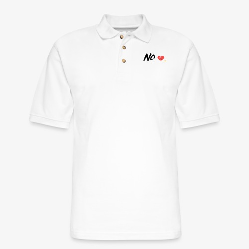 No Love - Men's Pique Polo Shirt
