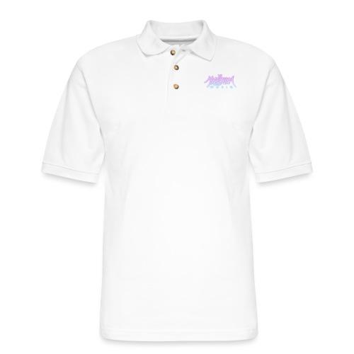 Glow Logo - Men's Pique Polo Shirt