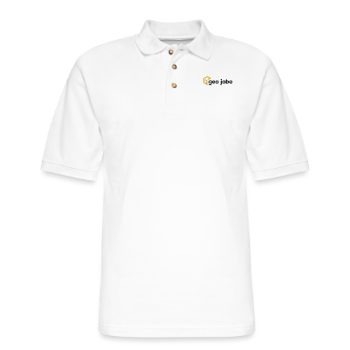 GEO Jobe Corp Logo - Black Text - Men's Pique Polo Shirt