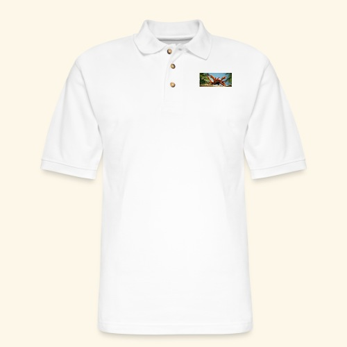 obama is gone crab- Mme Worthy Apparel - Men's Pique Polo Shirt
