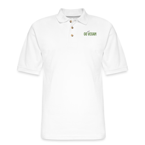 Go Away Vegan - Men's Pique Polo Shirt