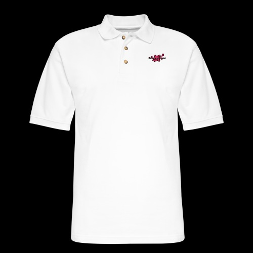 Pink skull DHS og logo - Men's Pique Polo Shirt