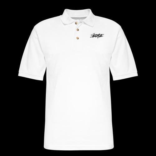 Black Logo Plain - Men's Pique Polo Shirt