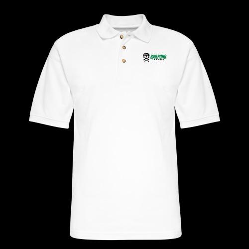Bar Pong League Wide Logo - Men's Pique Polo Shirt