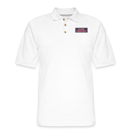 Sleep Exersizer Words - Men's Pique Polo Shirt