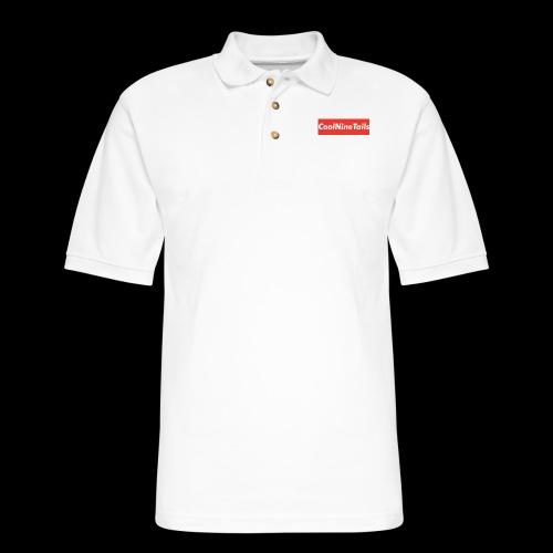 CoolNineTails supreme logo - Men's Pique Polo Shirt