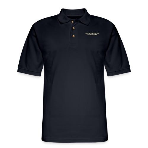 When the going gets tough.... - Men's Pique Polo Shirt