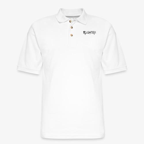 Slighter Line Glitch Logo - Men's Pique Polo Shirt