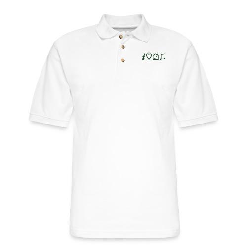 I Heart House Music - Symbolic Design 1 - Men's Pique Polo Shirt