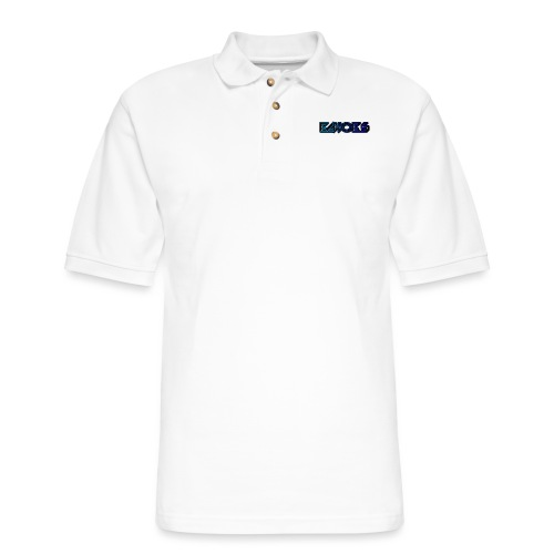 ECHO™Original Blue Logo Long Sleeve Shirt Black - Men's Pique Polo Shirt