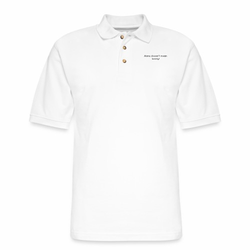 Alone Doesn't Mean Lonely Breakup Tee - Men's Pique Polo Shirt