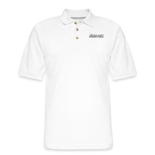 logoText - Men's Pique Polo Shirt