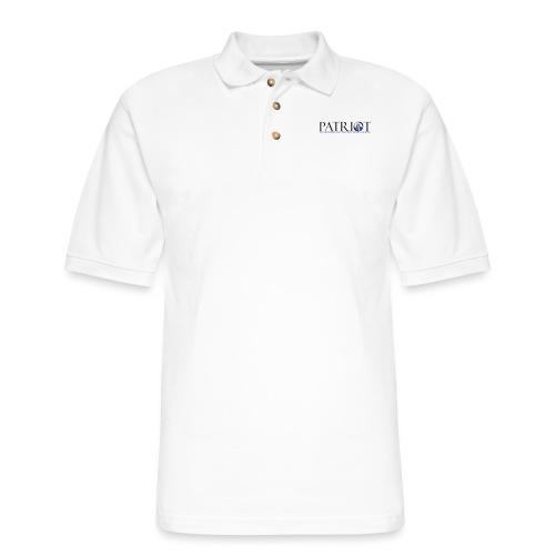 PATRIOT_SAM_USA_LOGO - Men's Pique Polo Shirt