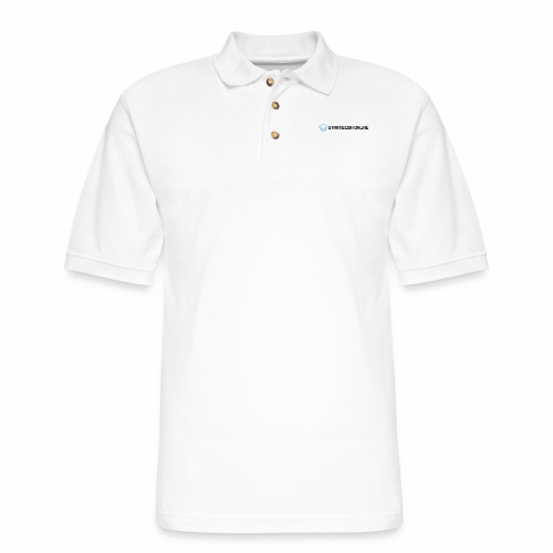 stratiscoin online dark - Men's Pique Polo Shirt