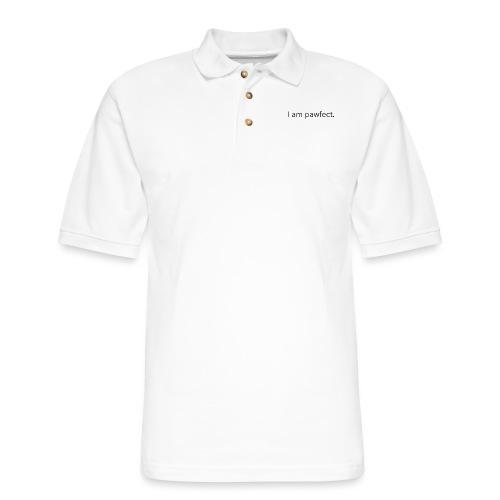 I am pawfect. - Men's Pique Polo Shirt