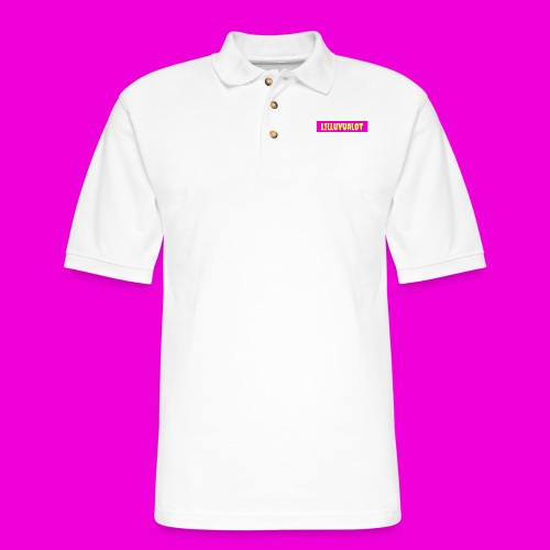 lilluvualot box logo - Men's Pique Polo Shirt