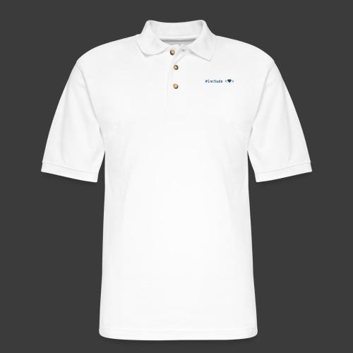 Include Heart (Light Background) - Men's Pique Polo Shirt