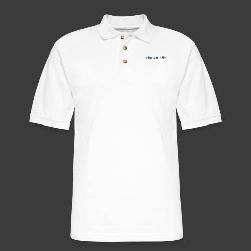Blue Include Heart - Men's Pique Polo Shirt