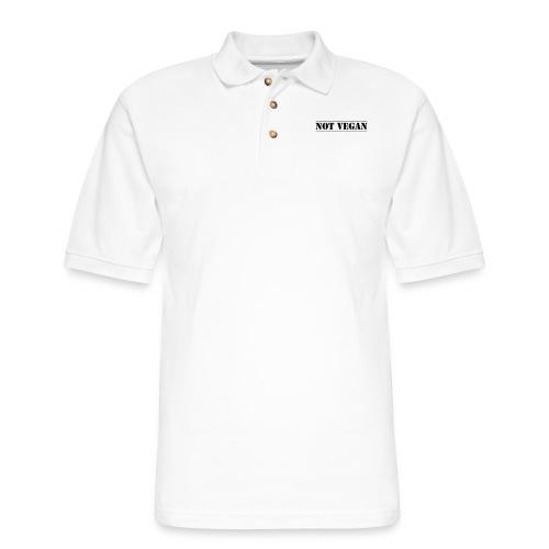 NOT VEGAN - Men's Pique Polo Shirt