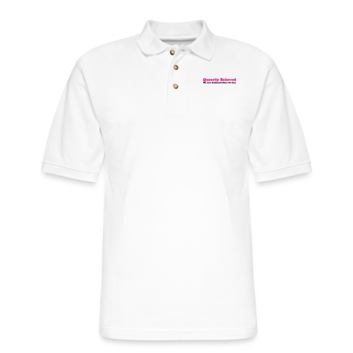 Queerly Beloved - Mug - Men's Pique Polo Shirt