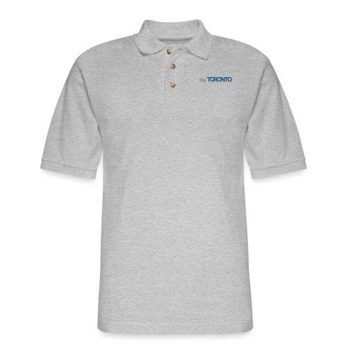 cityTorontoLogoNEW.png - Men's Pique Polo Shirt