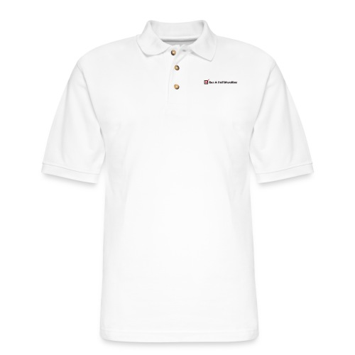 RUN HALF MARATHON CHECK - Men's Pique Polo Shirt