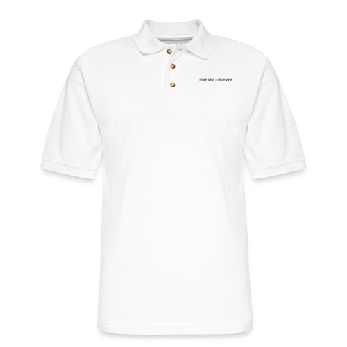 whys wise - Men's Pique Polo Shirt