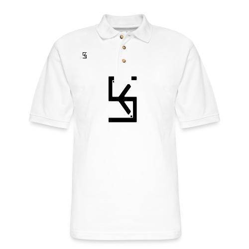 Soft Kore Logo Black - Men's Pique Polo Shirt