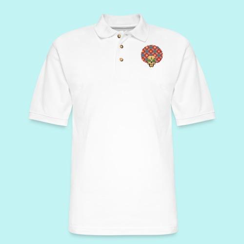 MACK DADDY SKULLY - Men's Pique Polo Shirt