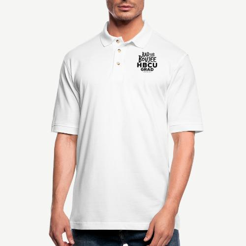 Bad and Boujee HBCU Grad - Men's Pique Polo Shirt
