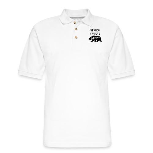 Momma Bear - Men's Pique Polo Shirt