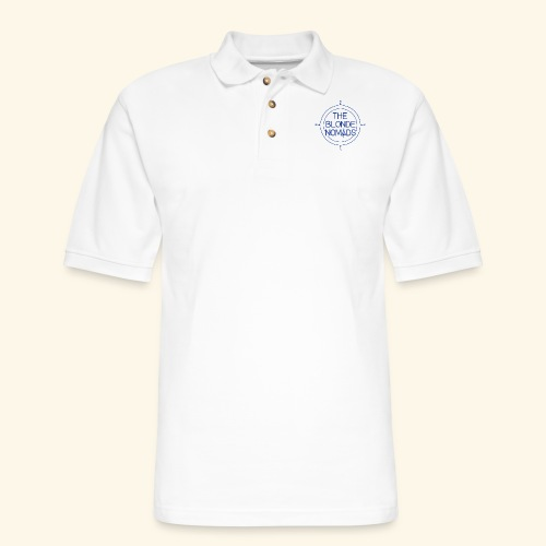 The Blonde Nomads Blue Logo - Men's Pique Polo Shirt