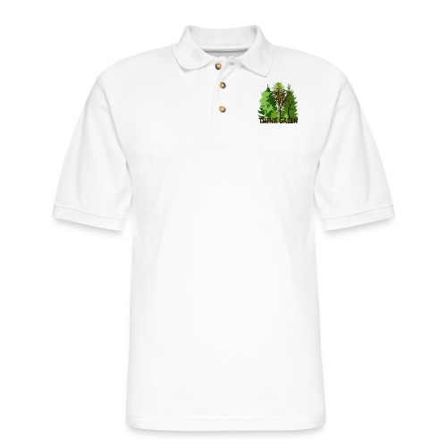 EARTHDAYCONTEST Earth Day Think Green forest trees - Men's Pique Polo Shirt